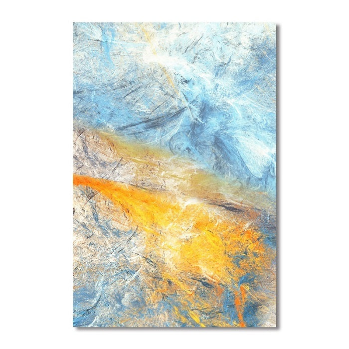 Dream Blue and Yellow Abstract Art Canvas Paintings Modular Pictures - wall art