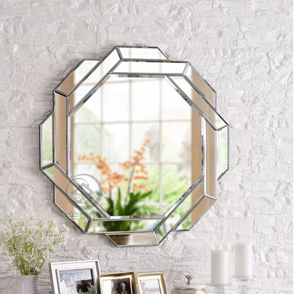 Modern wall mirror glass vanity mirror wall decorative mirrored art console mirror