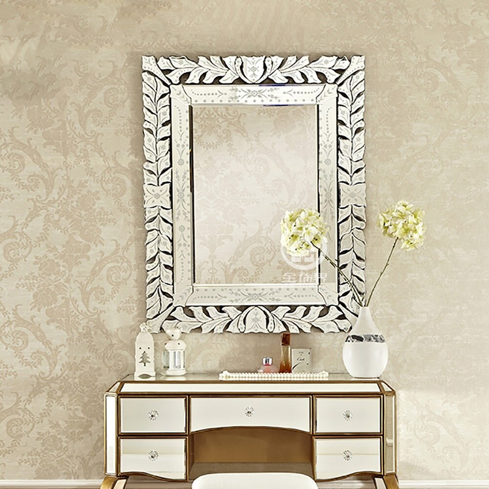 Modern wall  glass mirror venice wall decorative mirrored art rectangle venetian mirror vanity console mirror M-F2095