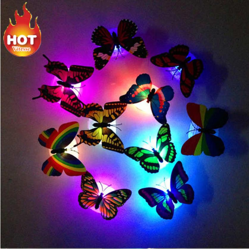 Colorful changing butterfly led night light lamp - home decor Online store-oosmdeals