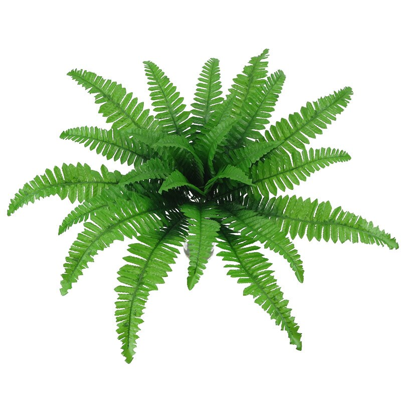 Head Artificial Plants Persian Leaves Simulation Fern Grass Green Big Leaves - home and decor