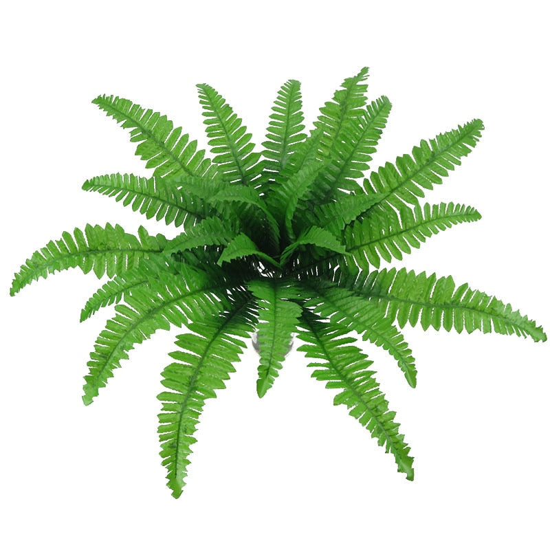 Head Artificial Plants Persian Leaves Simulation Fern Grass Green Big Leaves - home and decor-oosmdeals