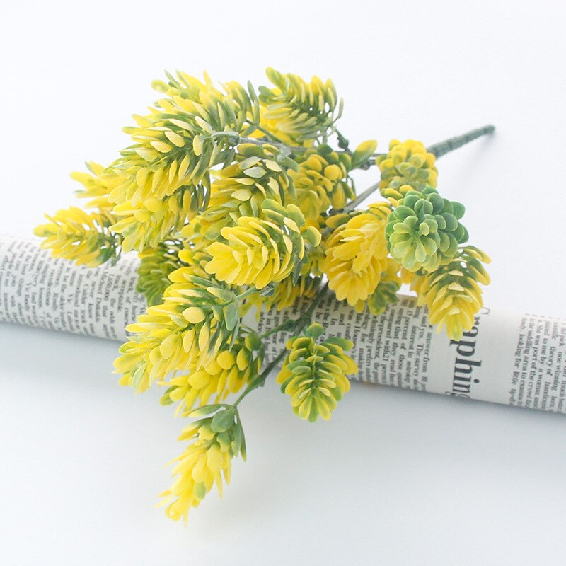 35 heads/bundle Pine Cone Simulation Pineapple grass artificial plants DIY home vases for decoration fake plastic flower pompon