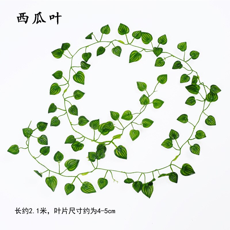2.1M Artificial Ivy green Leaf Garland Plants Vine Fake Foliage - home and decor-oosmdeals