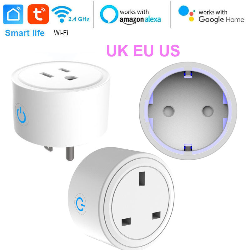 US/EU/UK Smart Mini Socket Plug WiFi Wireless Remote Socket Adaptor with Timer on / off Compatible - home decor Online store