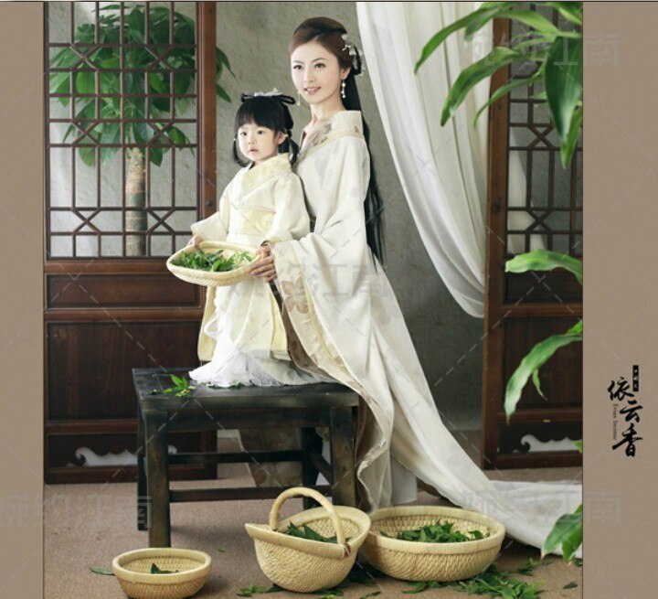 Yi Yun Xiang Tea Fragnance Cute Kids Mummy-Daughter Family Outfit Parent-child costumes set