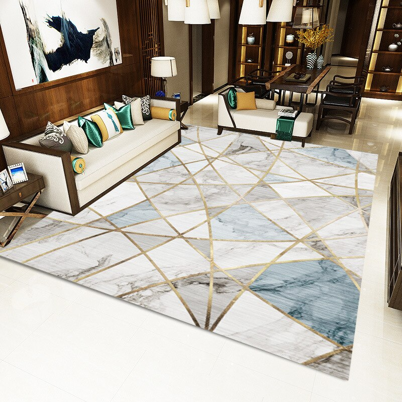 Creative Nordic Carpets For Living Room Sofa Coffee Table Rug Home Carpet Bedroom Decorative Study Floor Mat Marble Line Rugs