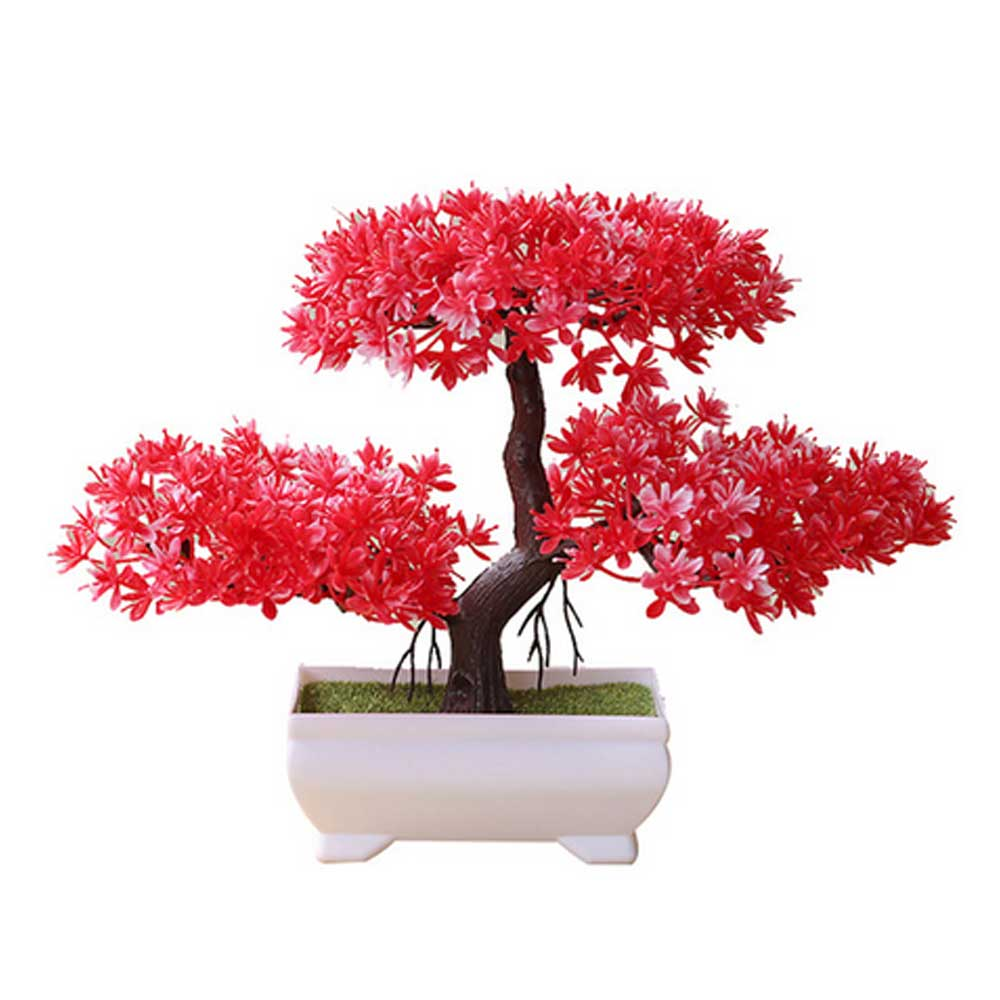 Artificial Bonsai Cloud Pine Tree Creative Style Plant Decoration Potted for Office Home Christmas Simulation - home and decor-oosmdeals