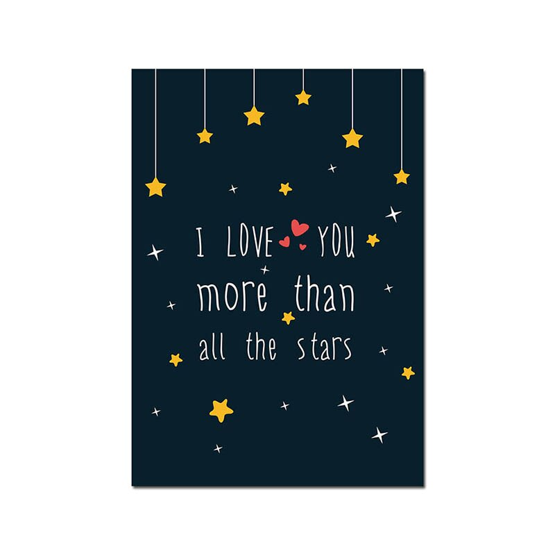 Rocky Space Nursery Quotes Child Poster Canvas Art Decorative Print Wall Painting - wall art-oosmdeals