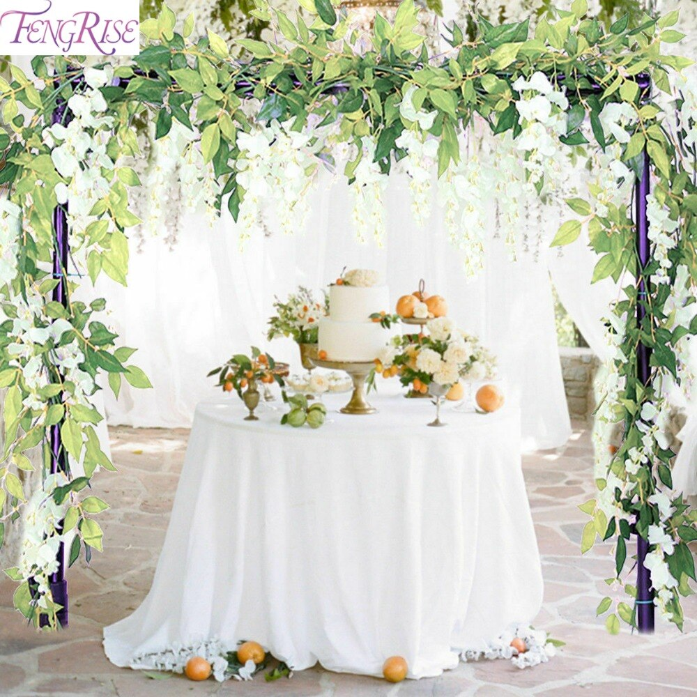 FENGRISE 80cm 1pcs Artificial Flowers Vine Ivy Leaf Fake Plant Artificial Plants Green Garland Home Wedding Party Decoration