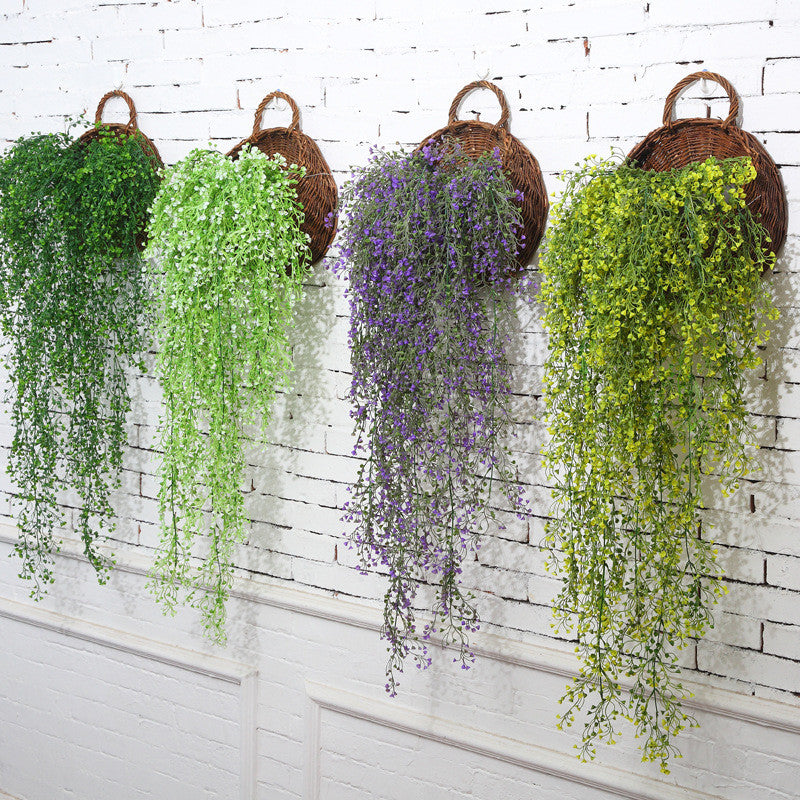 Artificial Fake Silk Flower Vine Garden Decoration Hanging Garland Plant Artificial Plants Home Garden Wedding Decor - home and decor