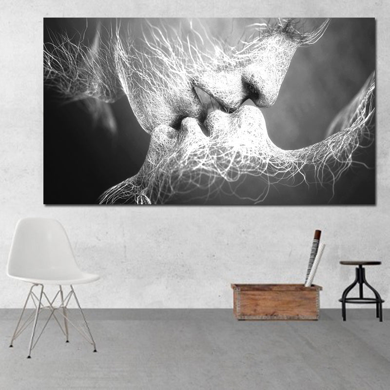 Unframed Abstract oil painting Love Kiss Wall Art Canvas Prints Pictures For Living Room Modern Pictures Home Decoration-oosmdeals