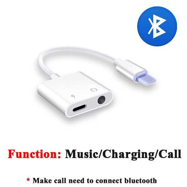 2 in 1 Earphone Audio Adapter Charging Cable Mobile Phone Aux Dual Jack For iPhone 7 8 plus X XS - home decor Online store-oosmdeals