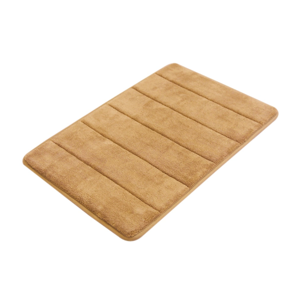 40*60cm Water Absorption Rug Bathroom Mat Shaggy Memory Foam Bath Mat - home and decor-oosmdeals