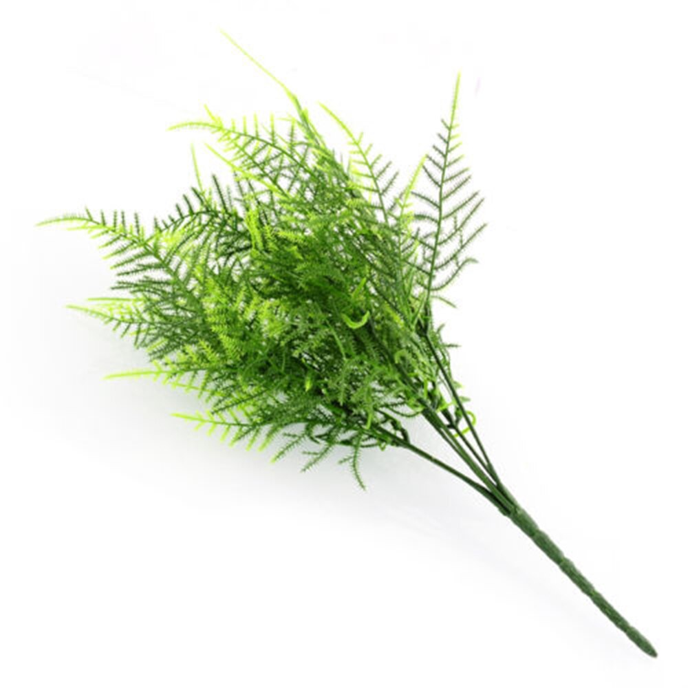 Creative Plastic Green Plants 7 Stems Artificial Fern Asparagus Grass Flower Bushes - home and decor-oosmdeals