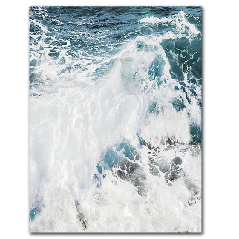 Ocean Wave Landscapes Canvas Painting Seascape Nordic Posters and Prints - wall art-oosmdeals