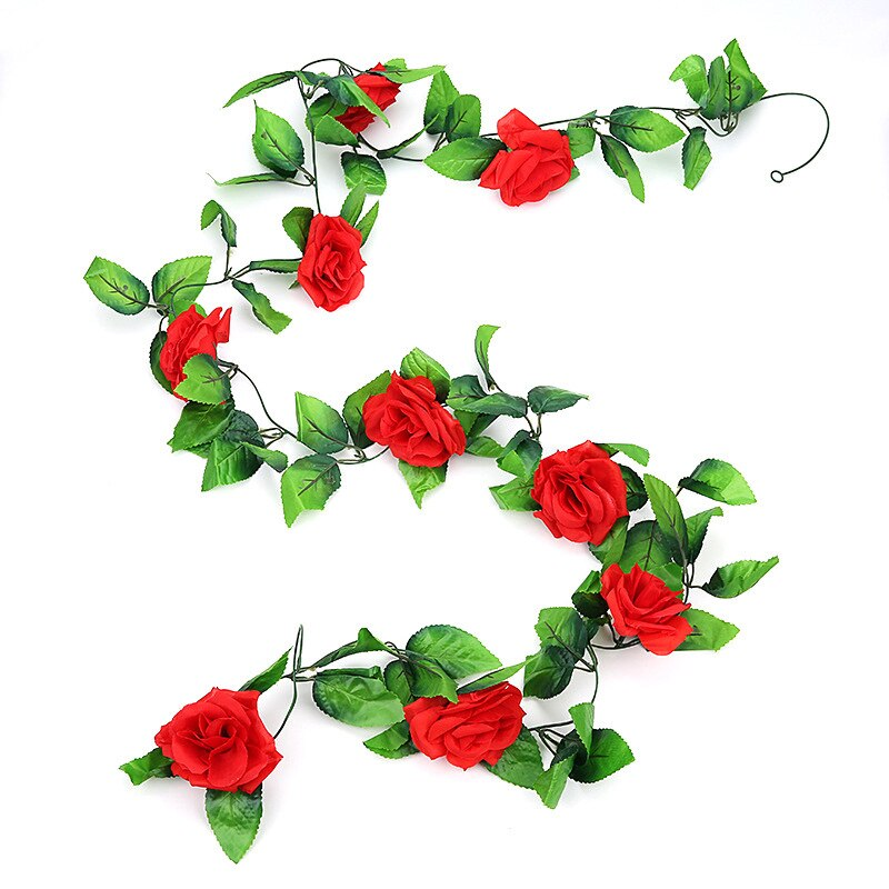 240cm Artificial plants Rose vine green leaf Ivy vine For Home Wedding Decora diy garden wall Hanging Artificial Flowers 1 pcs