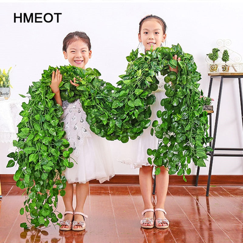 200cm Artificial plants Creeper green leaf Ivy vine - home and decor