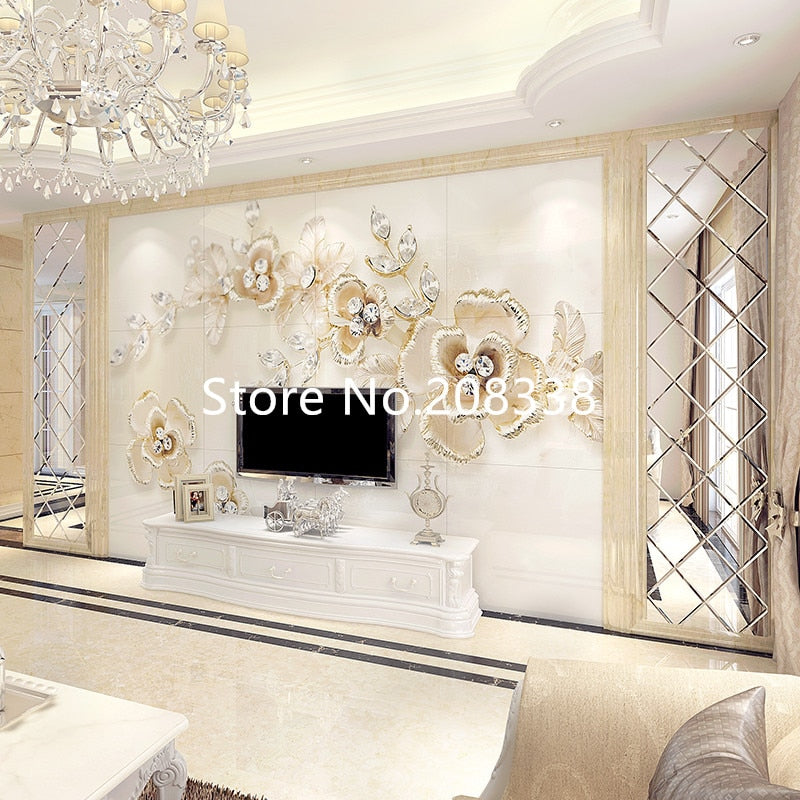 beveled mirror tiles SS-M6  for wall - wall art