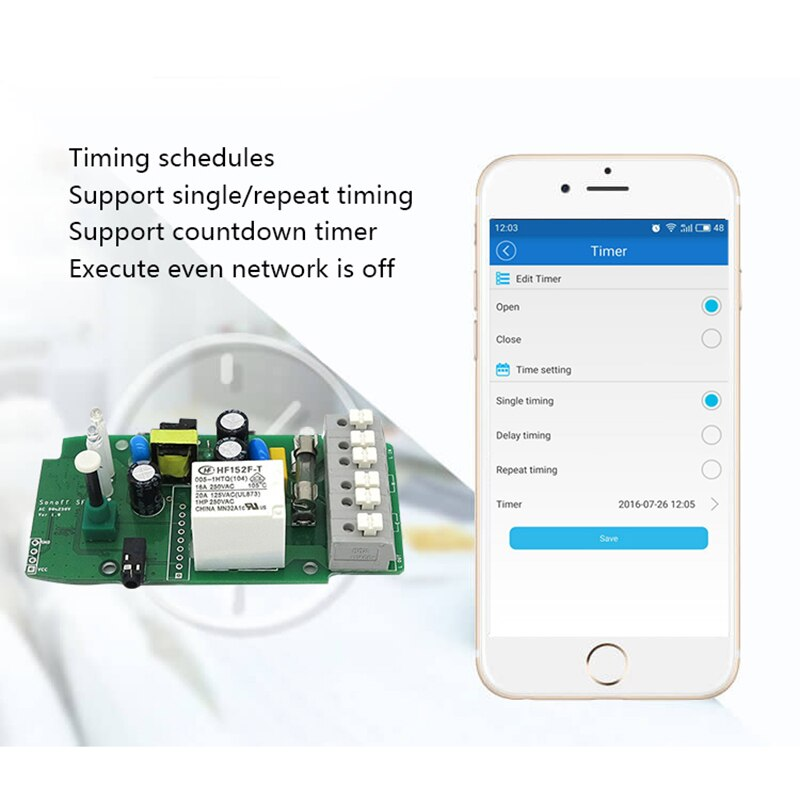 Sonoff TH16 TH10 Wifi Smart Switch Support Temperature And Humidity Monitoring WiFi Smart Home Wireless Switch Works With Alexa