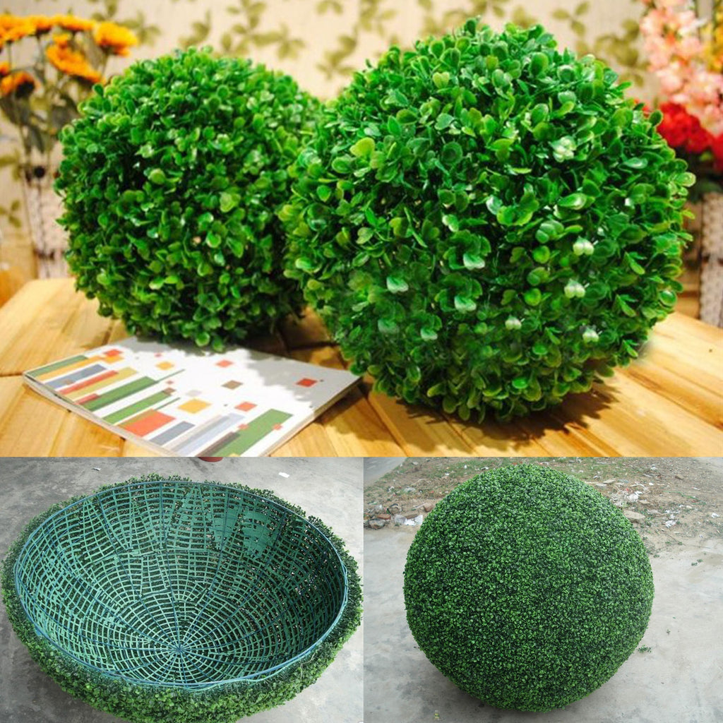 Artificial Plant False Grass Ball Tree Boxwood Wedding Event Arrangement Nordic Home Decoration Fake Artificial Plants Rattan