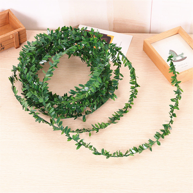 7.5 Meters Artificial Leaf Garland Plants Vine Fake Foliage Handmade for Home Decor Wedding Decoration DIY Wreath Silk Flower .Q