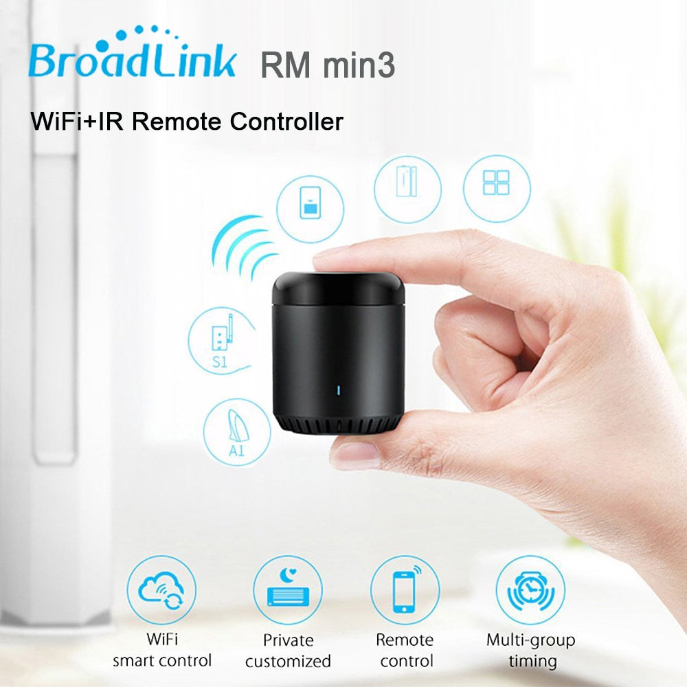 2019 Broadlink RM Pro+ RM33 RM Mini3 WiFi+IR+RF Universal Intelligent Remote Controller Smart Home works with Alexa Google Home