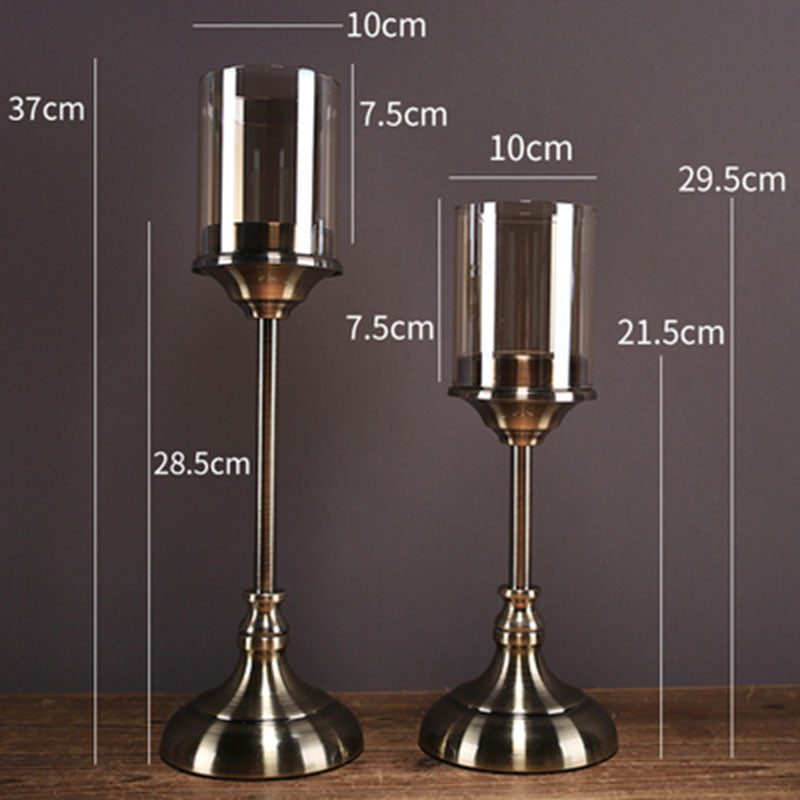 Wedding Centerpieces For Tables Candlesticks Home Accents Glass Centerpiece Candle Holders Kerzenhalter Cam Mumluk Lantaarn 50 (Suit)-oosmdeals