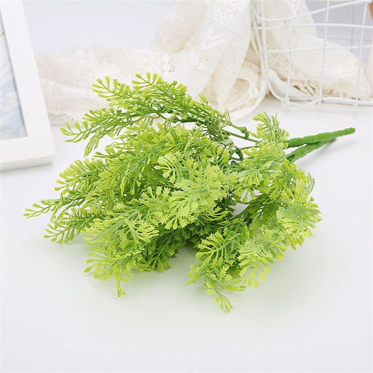 Fake plant Plastic Flower Artificial Plants Green Grass Plastic plant - home and decor-oosmdeals