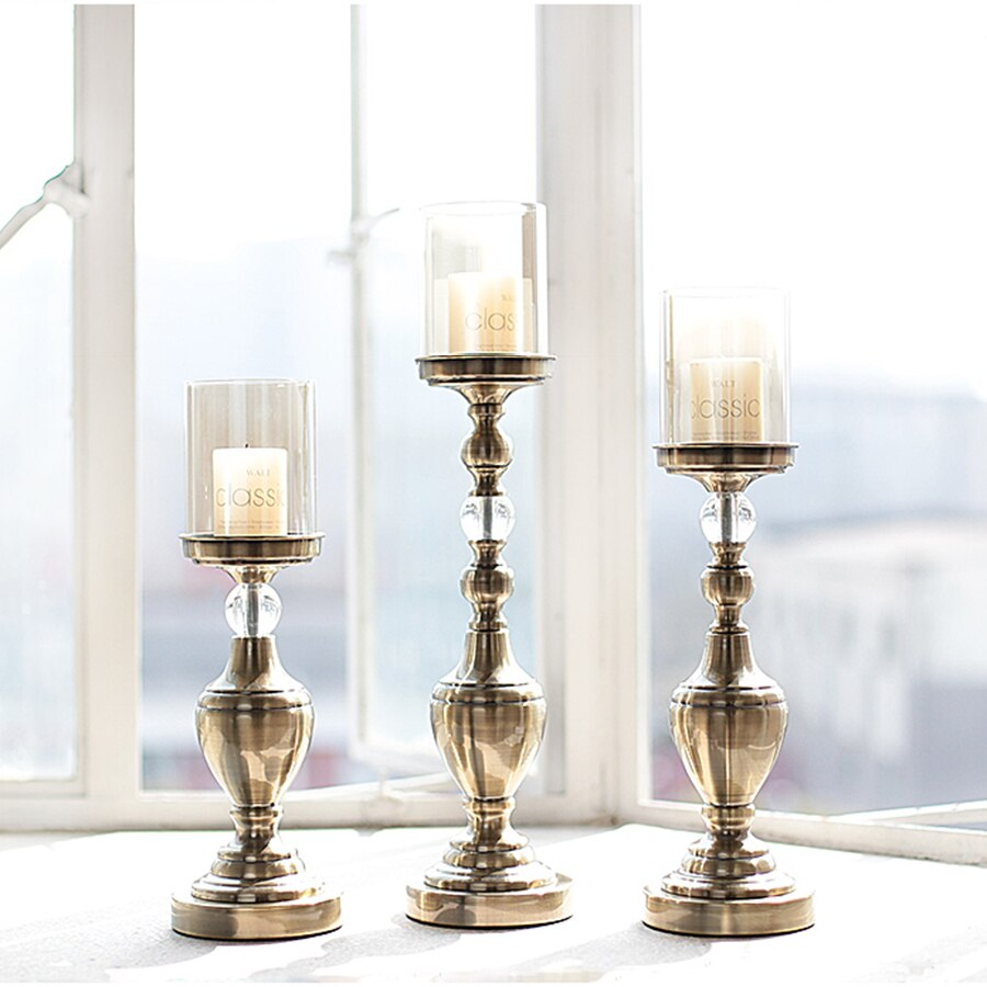 Nordic Home Decor Accents Moroccan Candlesticks Vintage Candle Holders Home Decorative Candles Lantern Candle Glass Lantern 50