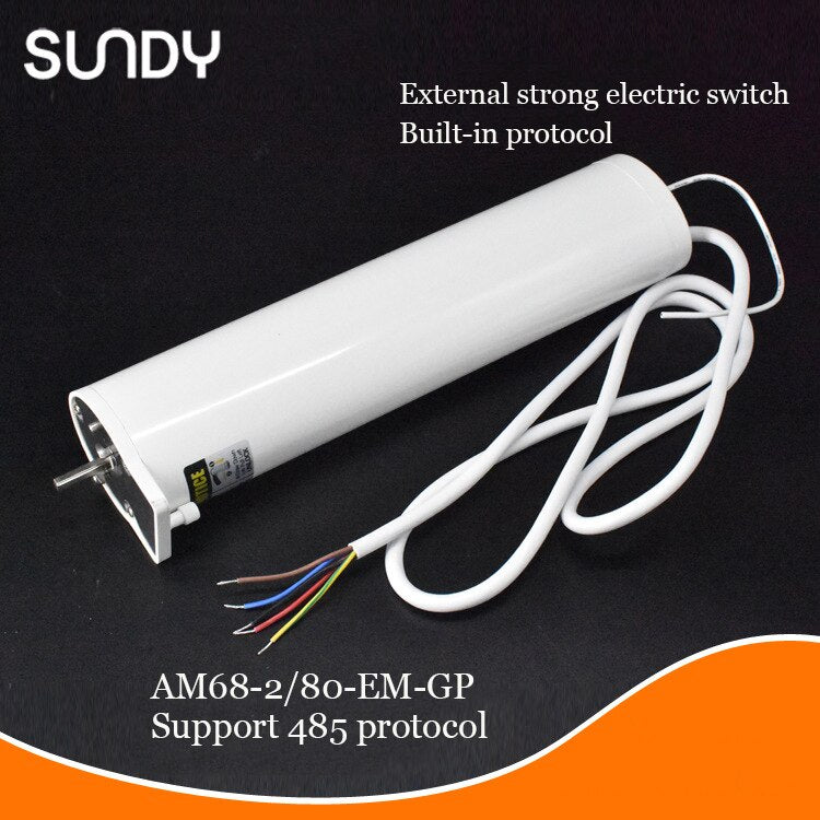 A-OK DC motor AM68 100-240V silent electric curtain track, support external switch and 485 protocol smart home electric curtains