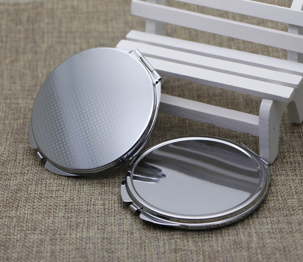 72mm DIY Mirror Compact Compact Mirror Blank Pocket Foldable Mirror With Epoxy Sticker 500 pieces/lot