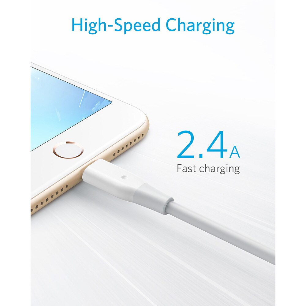 Anker Powerline Lightning Apple MFi Certified Lightning Cable for iPhone XS/XS Max/XR/X/8/8 Plus/7/7 Plus iPad Mini/Pro Air 2