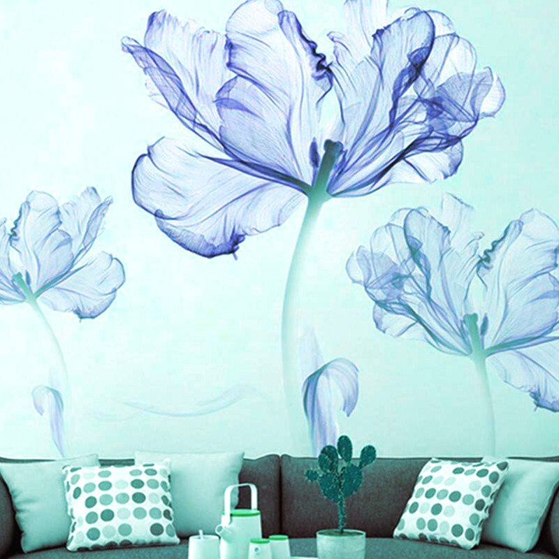 Flower Wall Stickers Home Decoration Accents for Kids Room - wall art