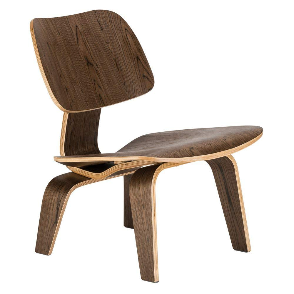 Modern Plywood Lounge Chair Natural Walnut Wood Low Lounge Chair For Living Room - home and decor