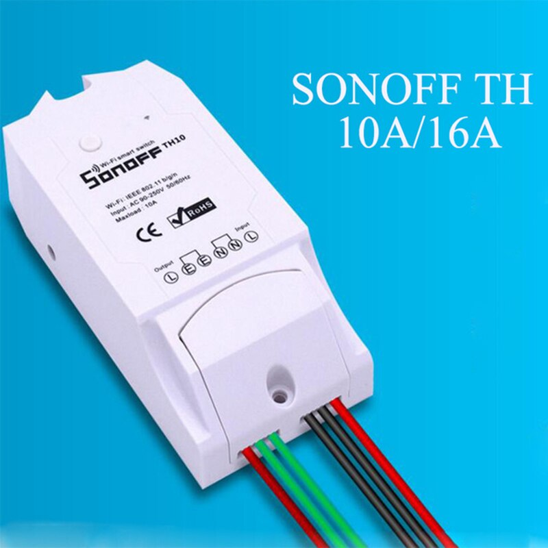 Sonoff TH16 TH10 Wifi Smart Switch Support Temperature And Humidity Monitoring WiFi Smart Home Wireless Switch - home decor Online store