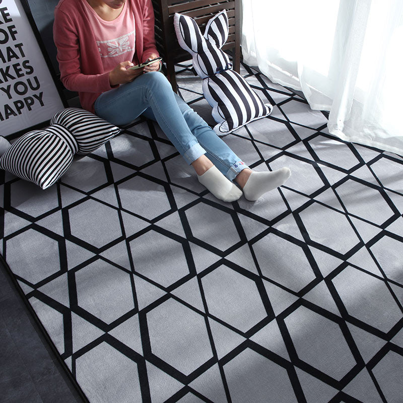 Nordic Modern Carpet Polyester Rug and Carpets for Living Room - home and decor