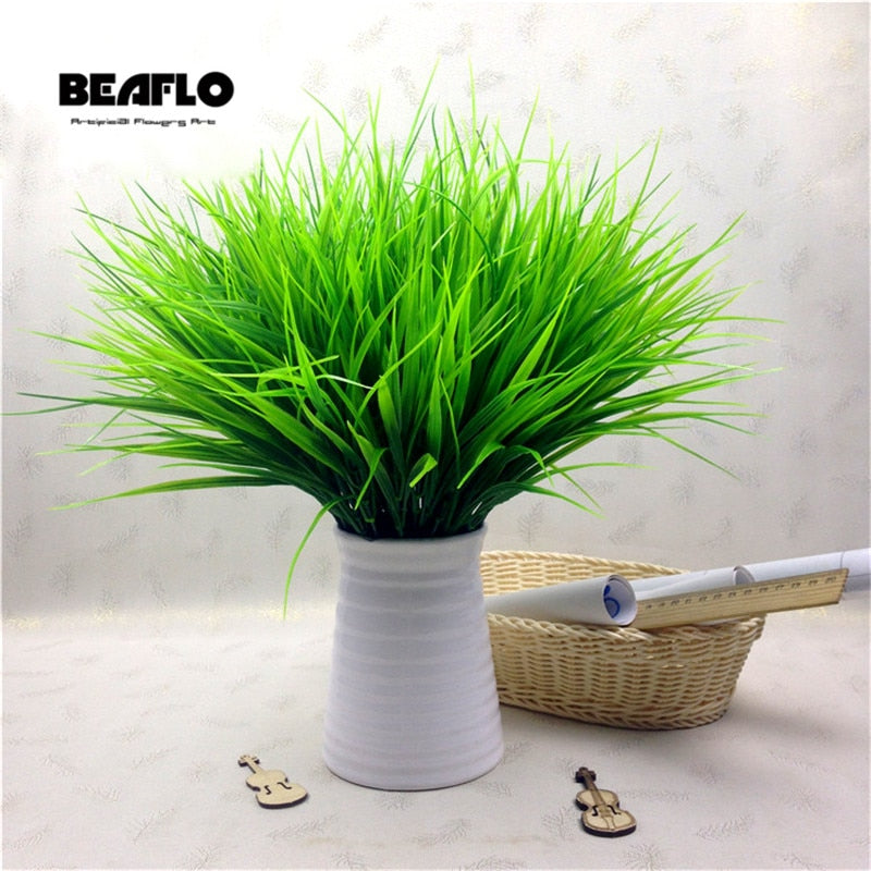 1PC Artificial Plastic 7 Branches Grass Plant Fake Flower Wedding Flower Arrangement Christmas Home Decoration - home and decor