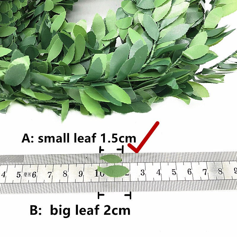 7.5 Meters Artificial Leaf Garland Plants - home and decor-oosmdeals