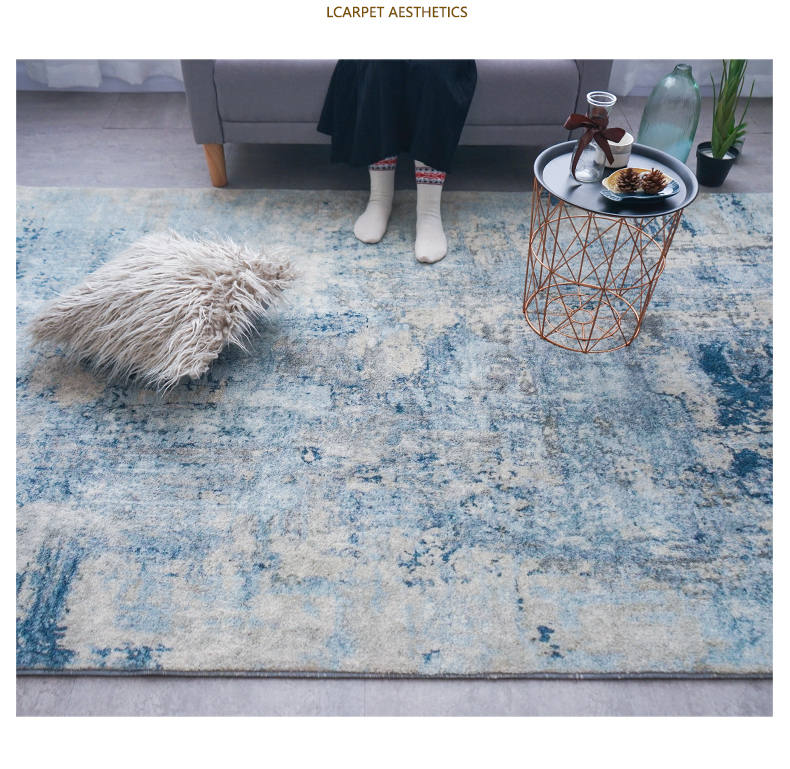 Soft Cotton Rugs And Carpets For Home Living Room Nordic Style Modern Bedside Bedroom Rugs Carpet - home and decor-oosmdeals