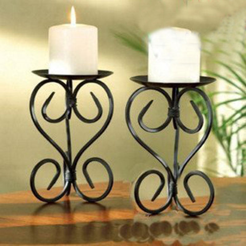 European style Metal Candle Holder shelf Classic design Metal Candlesticks flat iron - home and decor