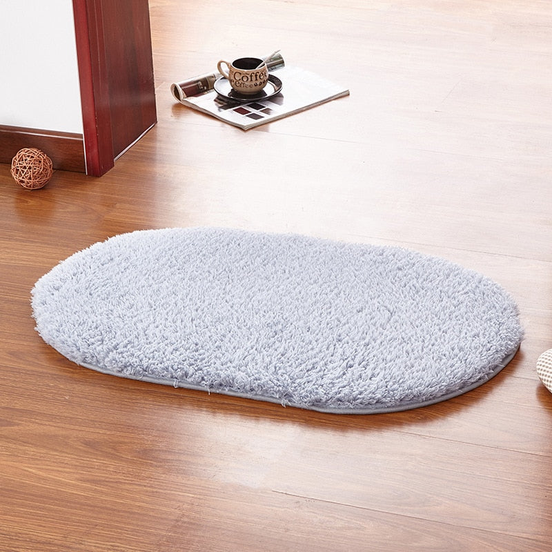 40*60CM Anti-Skid Fluffy Shaggy Area Rug Home Room Carpet Floor Mats - home and decor-oosmdeals