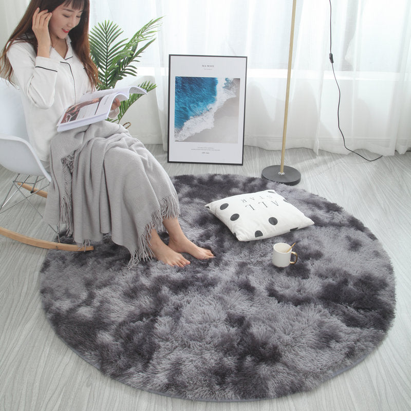 Nordic round carpet tie-dye living room coffee table blanket bedroom - home and decor