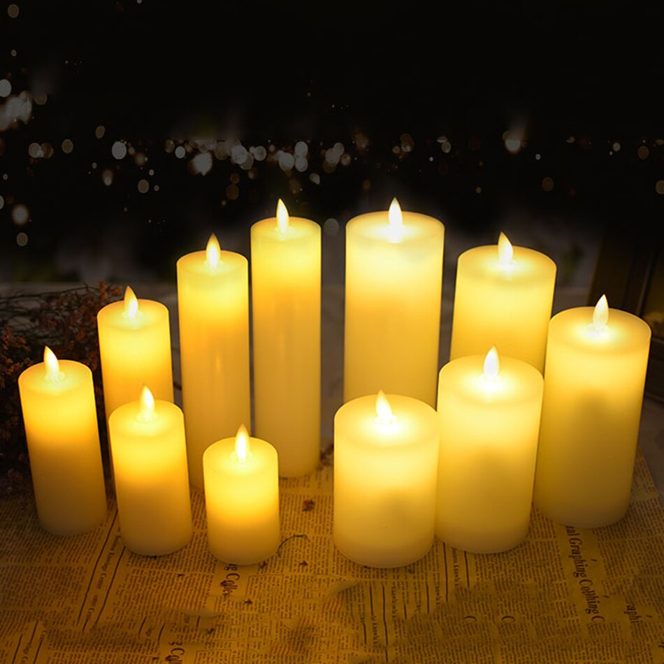 Electrical led wax candle dancing flame - home decor Online store