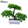 Artificial Bonsai Cloud Pine Tree Creative Style Plant Decoration  Potted for Office Home Christmas Simulation Mini Decoration - home and decor