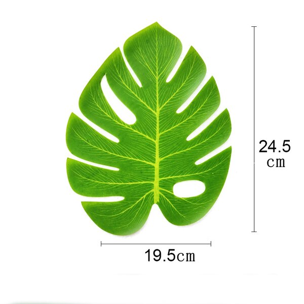 Tropical Green Plants Monstera Large Artificial Tree Leaves Fake Palm Leaf Real Touch Turtle Foliage For Home Wedding Wall Decor