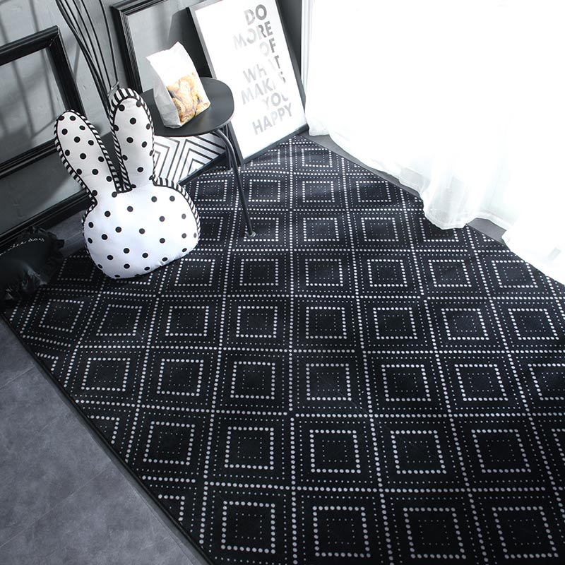 Geometric Plush Nordic Rug and Carpets for Living Room Bedroom Floor Climbing Child Kid Baby Play Mat - home and decor
