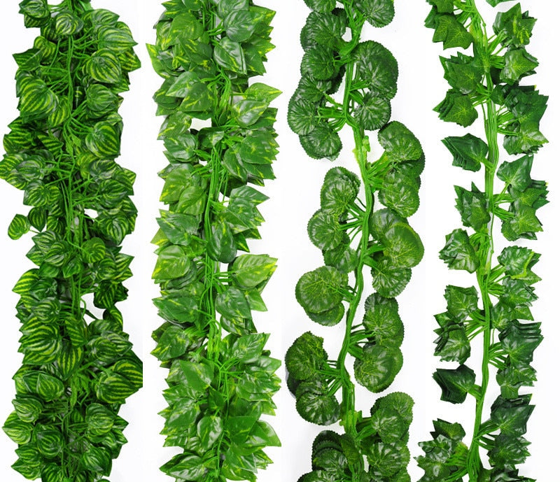 2.1M Artificial Ivy green Leaf Garland Plants Vine Fake Foliage Flowers - home and decor