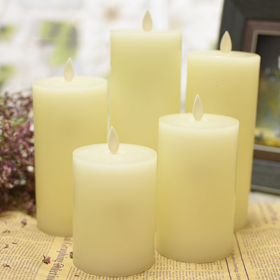 Electrical led wax candle with dancing flame,led candle for wedding/christmast/New Year,Christmas Decoration For Hotel,SPA,Bar