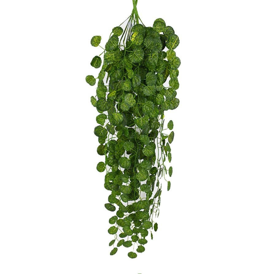 1Pcs Artificial Fake Hanging Vine Plant Leaves Garland Home Garden Wall Decoration Green May23